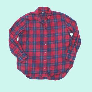 Madewell Edina Plaid Oversized Boy Flannel Shirt